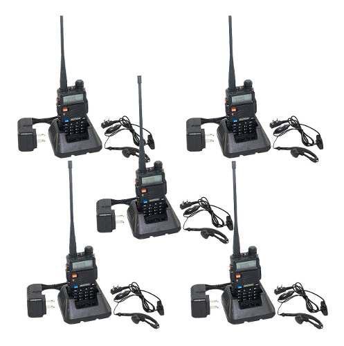 5 Radios Uv-5r Baofeng Walkie Talkie Uhf Vhf 2 Vias M S I