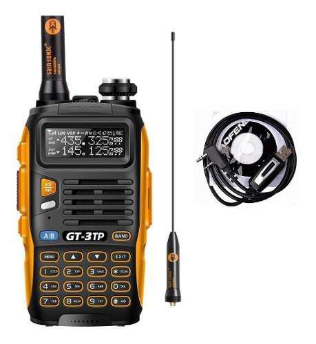 8w Radio Baofeng Gt-3tp Mark Iii Vhf/uhf + Cable Program.