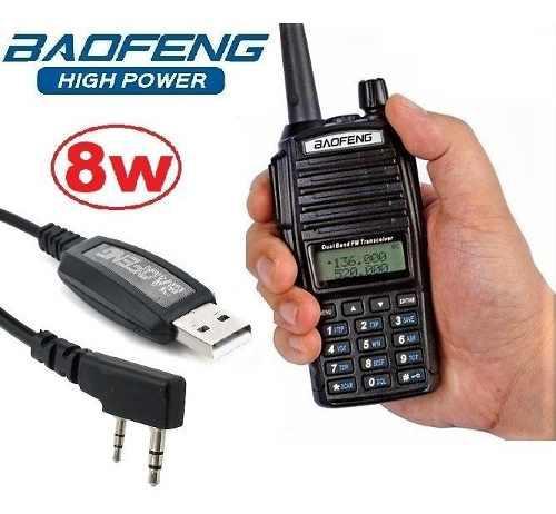 8w Radio Baofeng Uv-82 Hp Vhf/uhf Máxima Potencia + Cable