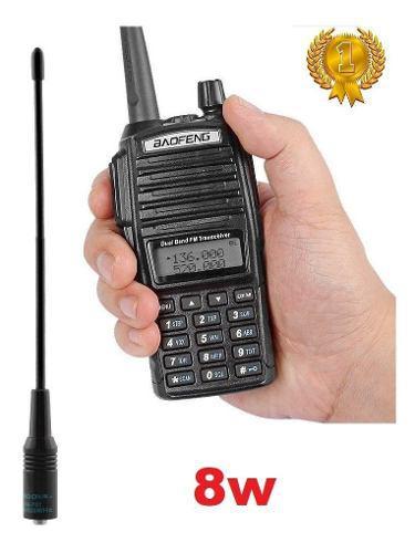 8w Radio Portatil Baofeng Uv-82hp Vhf/uhf + Antena Nagoya