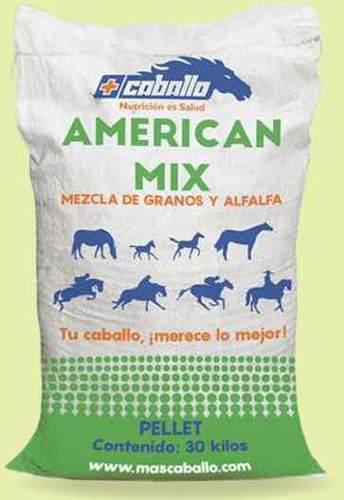 Alimento De Caballo American Mix Más Caballo 30 Kilos