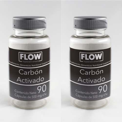 Carbon Activado Con 90 Cápsulas 2 Frascos Mejor Precio.