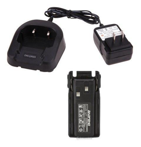 Cargador + Bateria Pila 2800 Mah Para Radio Baofeng Uv-82