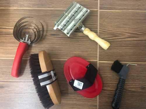 Cepillos Para Caballo Kit. 5 Piezas