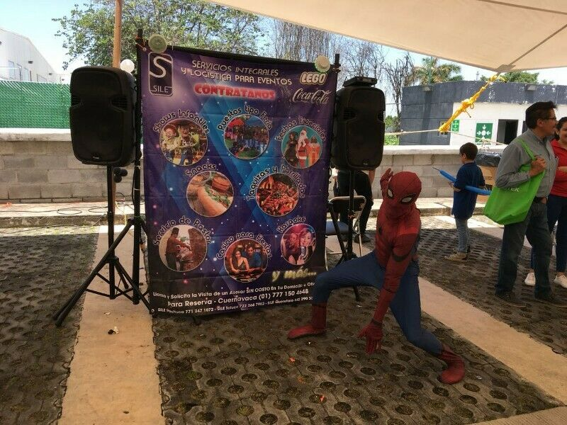 Divertido Personaje del Hombre Araña en Morelos