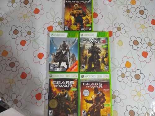 Lote De 5 Juegos Para Xbox 360