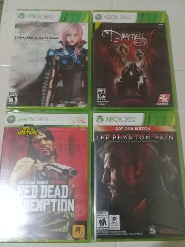 Lote De Juegos De Xbox 360 Nuevos, Metal Gear, Final Fantasy