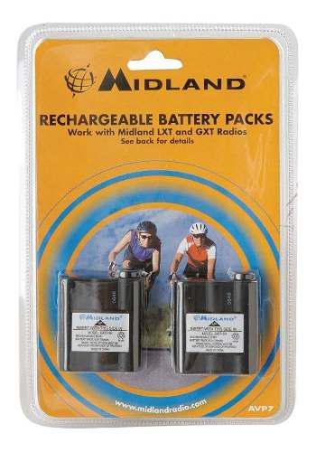 Midland Avp7 Paquete 2 Pilas Recargables Radios Lxt Y Gxt