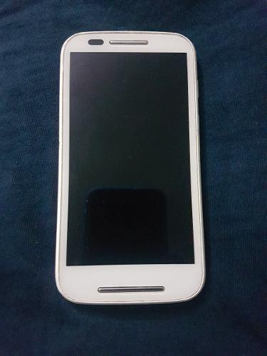 Motorola E Xt1021 Color Blanco Con Rosa X Piezas O Reparar.