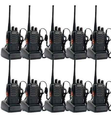 Set De 10 Radios Baofeng Bf-888s Walkie Talkie Msi Inmediato