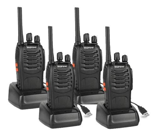 Set De 4 Radios Baofeng Bf-888s Walkie Talkie Msi Inmediato