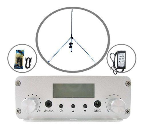 Transmisor Radio Fm De 20 Watts Kit Antena 15 Mts Cable