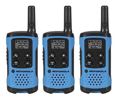 Tres Radios Motorola T100tp 25 Kilometros 22 Canales Frs/gmr