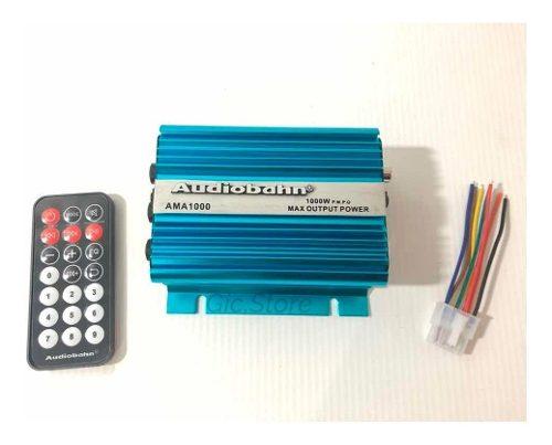 Amplificador Para Carro Motococlieta Audiobahn Amaw