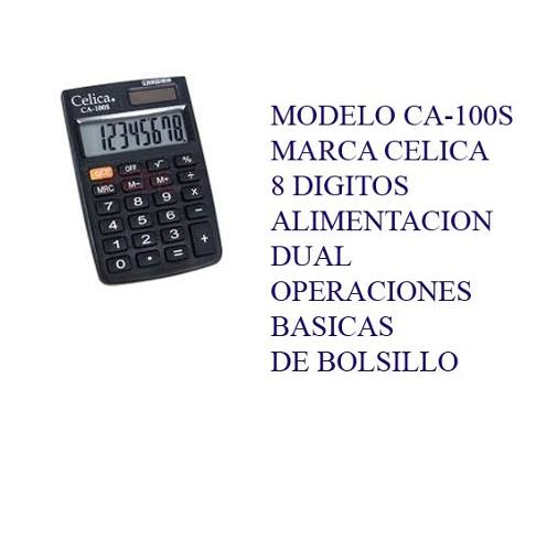 Calculadora Celica De Bolsillo Ca-100s Incluye Envio