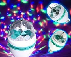 Foco Led Colores Giratorio Esfera Disco Mayoreo!