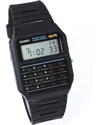 Reloj Con Calculadora Casio Vintage Ca53 Negro***