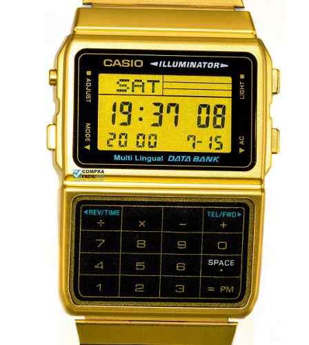 Reloj Con Calculadora Casio Vintage Dbc611 Dorado***