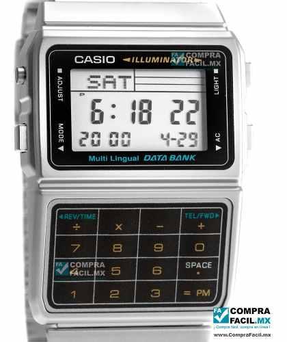 Reloj Con Calculadora Casio Vintage Dbc611 Plata***