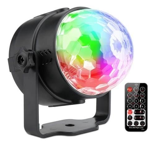 Sunball Luz Bola Disco Led Rgb Dj Sonido Esfera Cristal