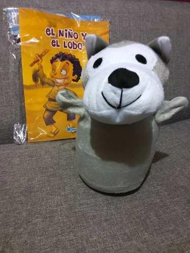 Titere De Mano Con 1 Cuento, Animales Libro Infantil