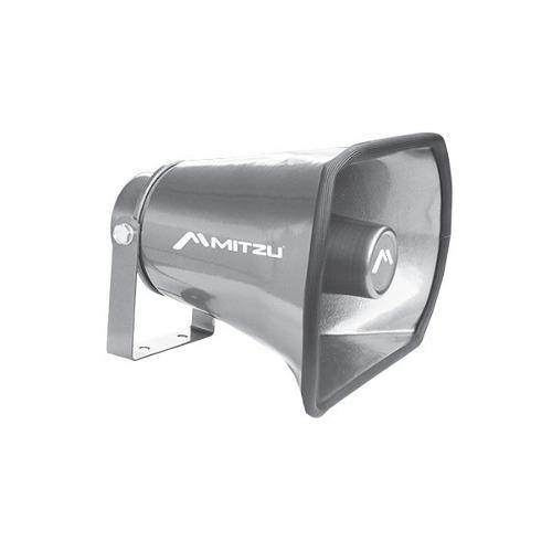 Trompeta Aluminio 35 W Parlante Perifoneo Alcance 1 Km Resis