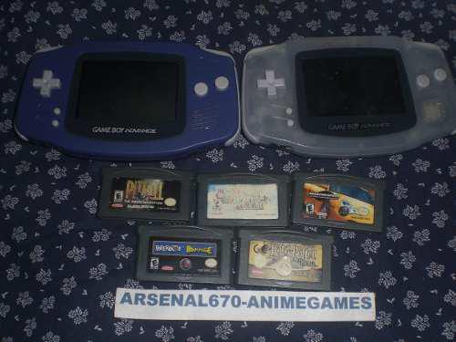 1 Game Boy Advance Con 4 Juegos Potter Mario Nfs Paper Gba