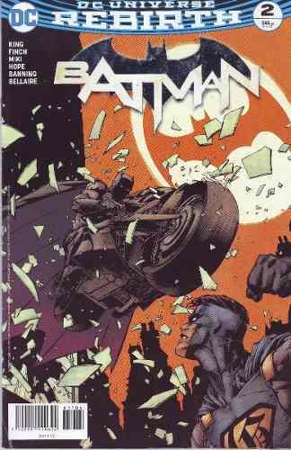 Cómic Dc Universe Rebirth Batman # 2 Nuevo Español