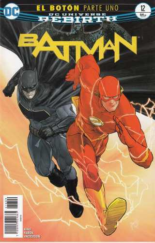Comic Dc Universe Rebirth Batman # 12 Boton Parte Uno