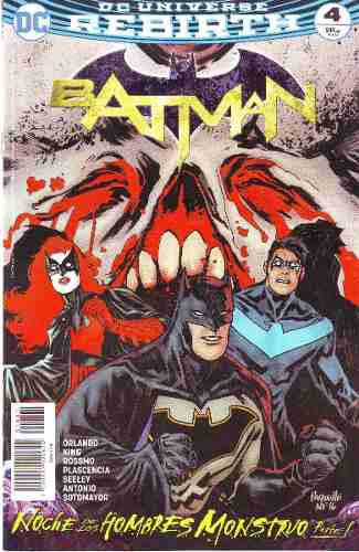 Comic Dc Universe Rebirth Batman # 4 Nuevo Español