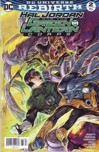 Comic Dc Universe Rebirth Hal Jordan And Green # 2