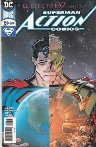Comic Dc Universe Rebirth Superman Action Comics # 15 Nuevo