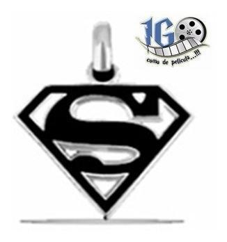 Dije Superman Logo Negro Man Of Steel Dc Comics Igo Reeve