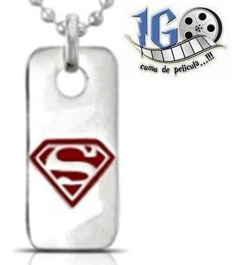 Dije Superman Tag Man Of Steel Original Dc Comics Igo!!!