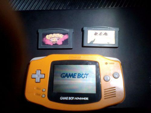 Game Boy Advance Naranja Con Dos Juegos