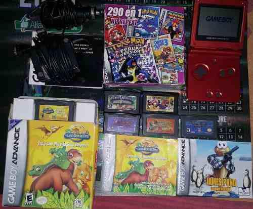 Game Boy Advance Sp Cargador De Corriente Y Auto +295 Juegos