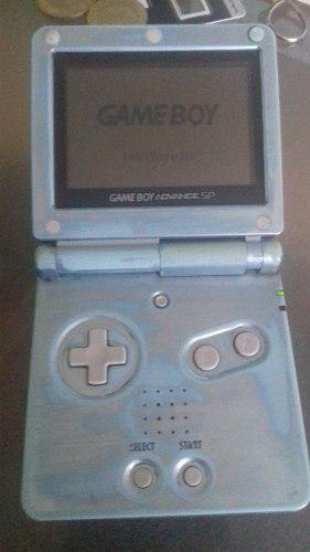 Game Boy Advance Sp Una Luz Con Un Juego