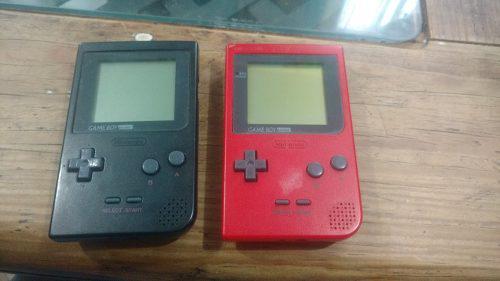 Game Boy Pocket Rojo Y Negro Usados Funcionan Bien