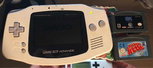 Gameboy Advance Blanco O Negro Muy Buen Estado