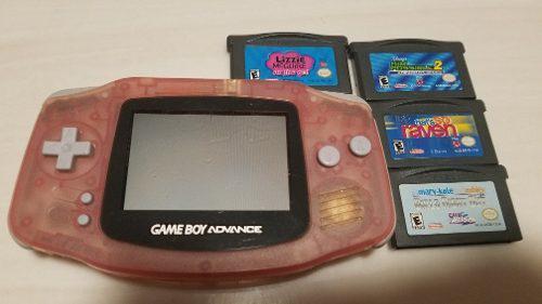 Gameboy Advance Rosa En Muy Buenas Condiciones