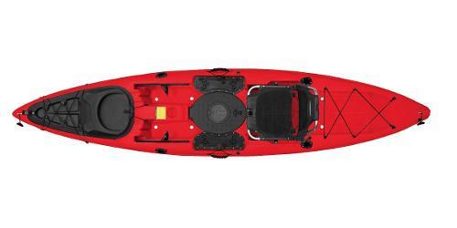 Kayak Malibu Stealth-12 Para Pesca Y Buceo Color Rojo