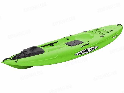 Kayak Malibu Trio 11 Estandar Para Pesca En Color Verde