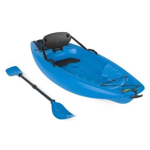 Kayak Para Niños Con Remo Y Respaldo Color Azul