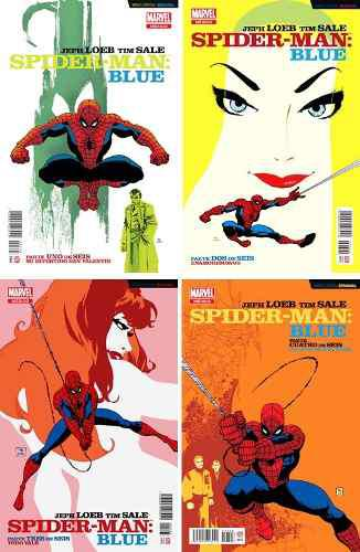 Marvel Comics Spider-man Blue 1 2 3 4 Amazing Spiderman