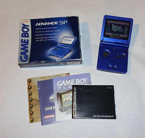 Nintendo Game Boy Advance Sp Cobalt Completo En Caja !