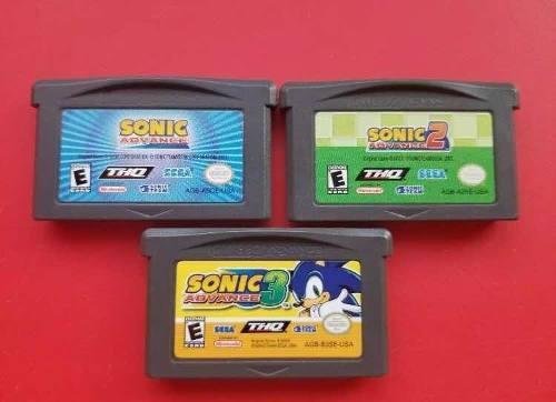 Sonic Advance 1 2 3 Game Boy Advance