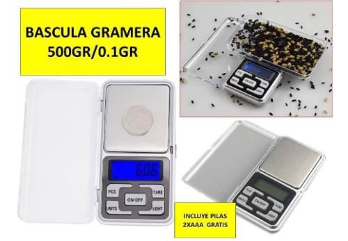 Bascula Gramera Digital Cocina Joyeria 500gr 0.1gr Pesar