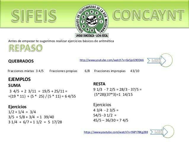 CLASES DE MATEMÁTICAS Y ÁLGEBRA PARA EXAMEN DE TELMEX