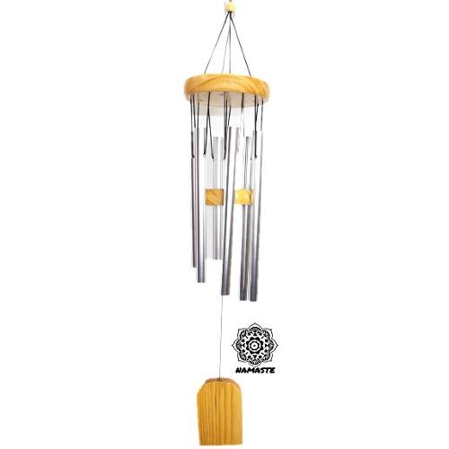 Campana Viento 6 Tubos Aluminio Wind Chime Móvil Con Envío