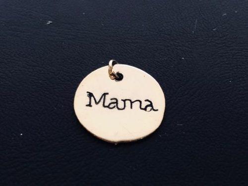 Dije De Mama Para Pulsera En Chapa De Oro 14k Bisuteria Mod2